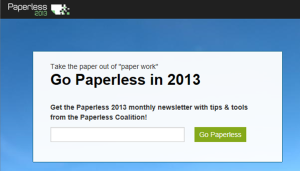 Paperless2013.org  website on March 15, 2013