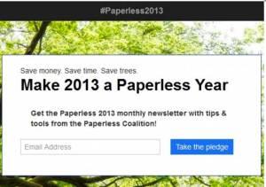 Paperless.org website on Jan. 3, 2013