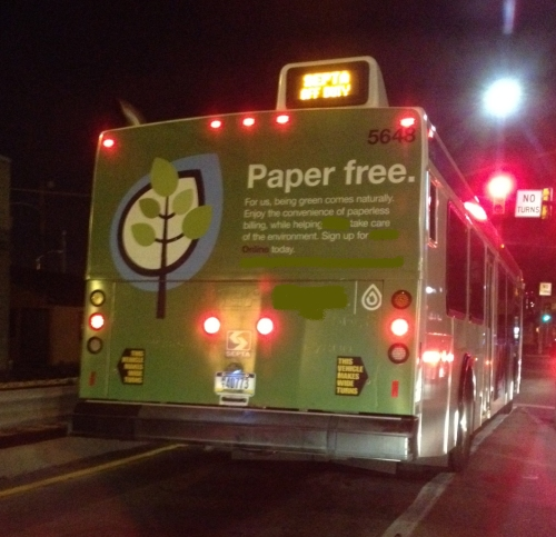Watch out not to get hit by the anti-paper bus!